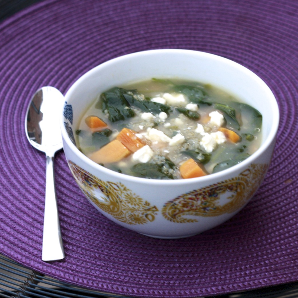 ... Life: Quinoa Chowder with Sweet Potatoes, Spinach, Feta, and Scallions