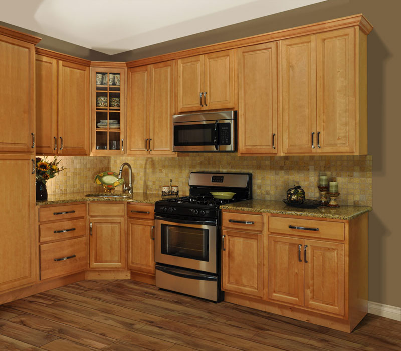 Kitchen cabinets wood colors 2017 kitchen design ideas for Cheap kitchen cabinets