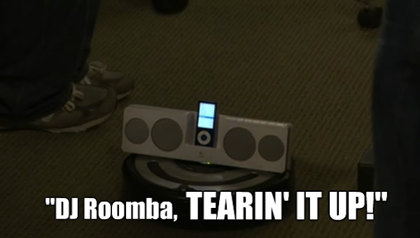 I bet DJ Roomba leads the robot revolt that takes down the humans of Pawnee in 2023.