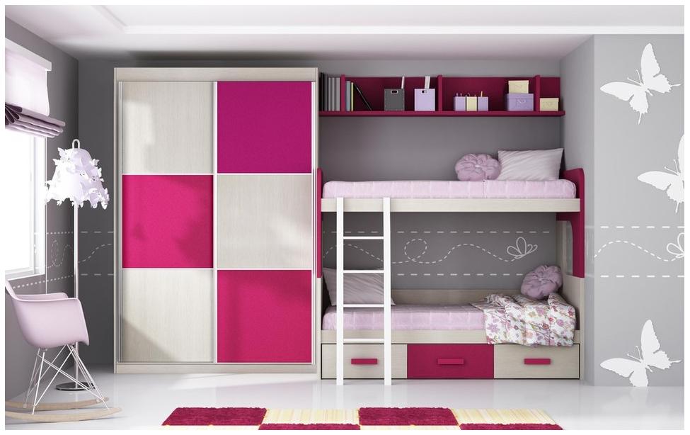 Balda hogar camas dobles para habitaciones juveniles for Habitaciones juveniles dobles
