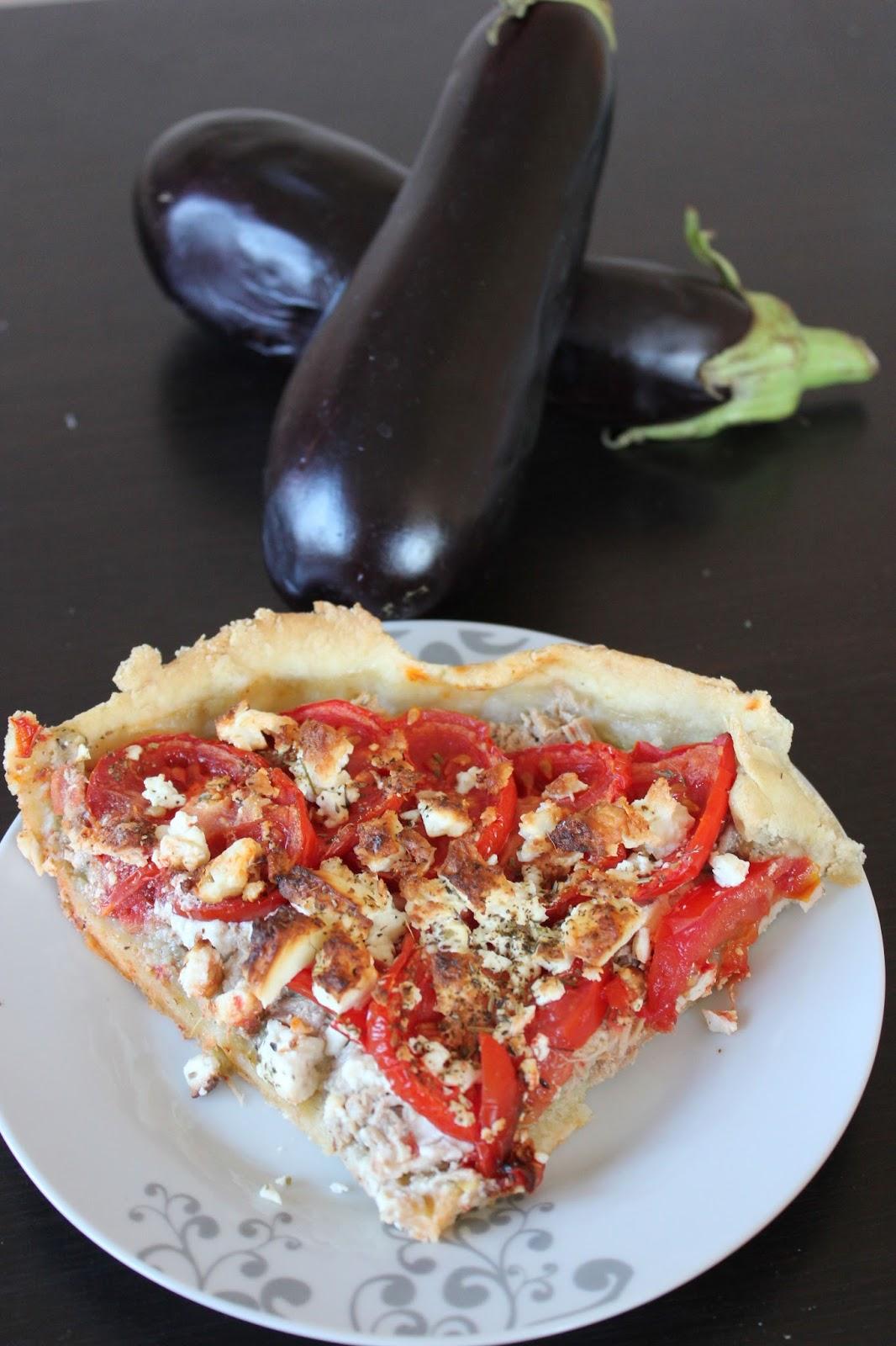 Tarte thon et tomate sur lit d 39 aubergine la moutarde - Cuisiner du thon en boite ...