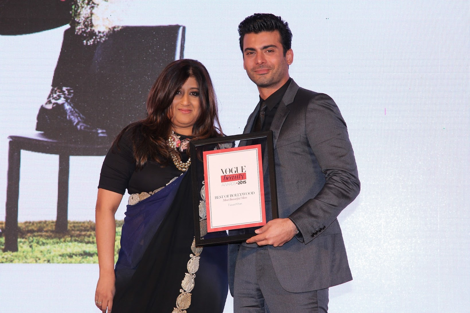 Best of Vogue India Beauty Awards 2015, Fawad Khan at the Vogue India Beauty awards