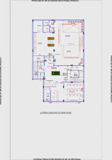 Up Country, Yamuna Expressway :: Floor Plans,Villa  4500 Sq. Ft. (500 Sq. Yd.):Total Buildup Area by us-12195 Sq.ft:-Lower Ground Floor Plan Area: 3364.567 sq ft