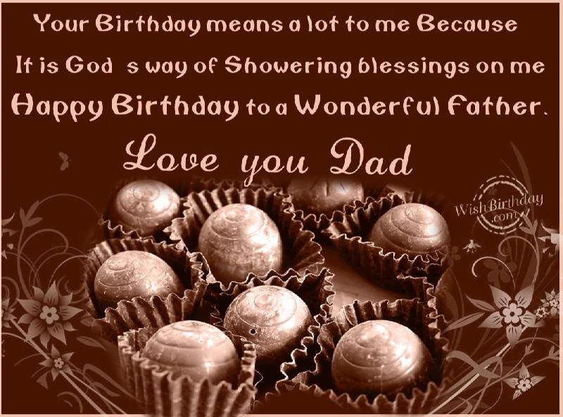 Birthday Wishes Father