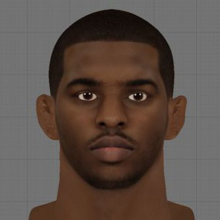 NBA 2K13 Chris Paul Cyber Face Mod