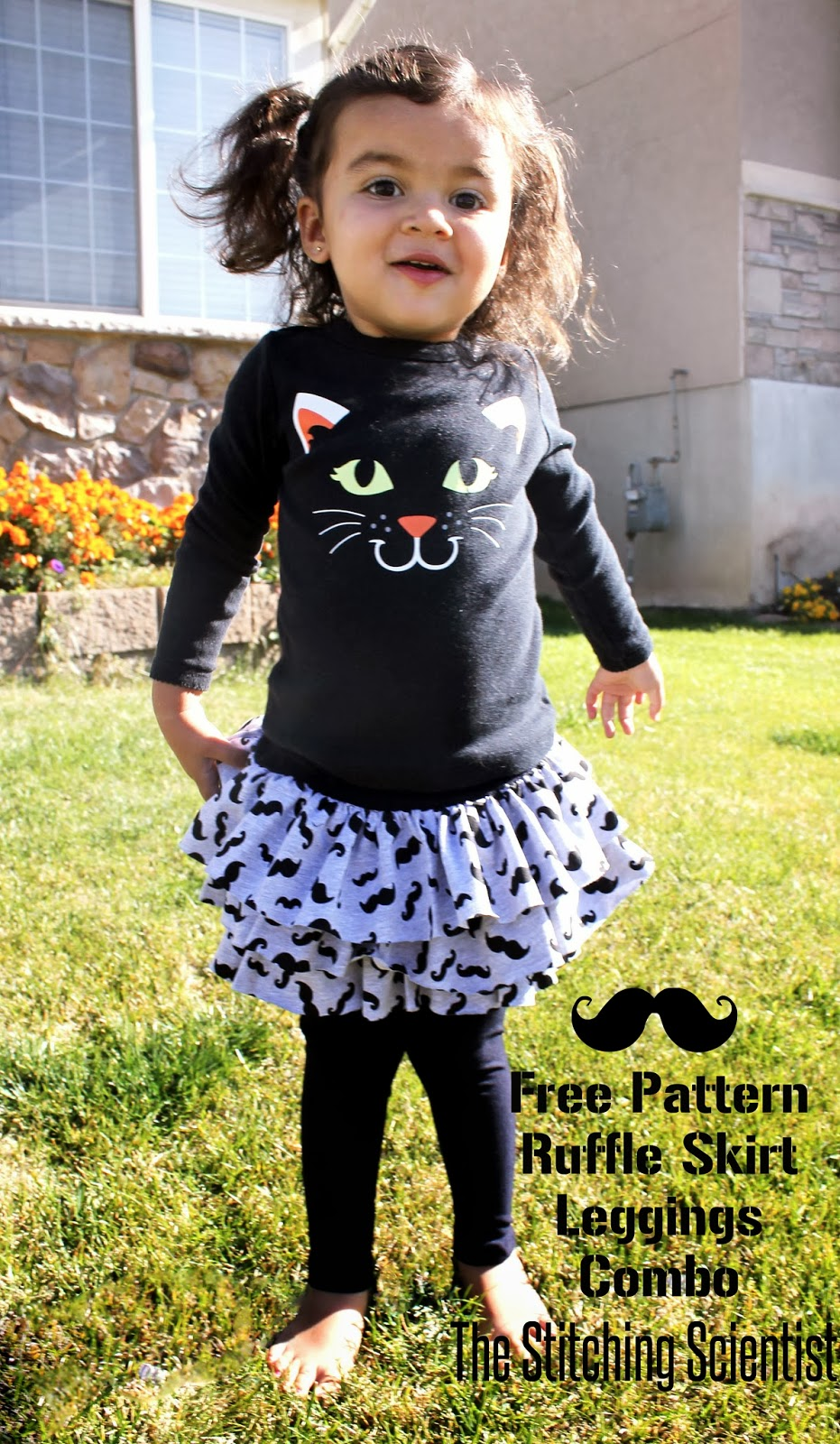 Ruffle Skirt and Leggings Combo with Free Pattern   The Stitching ...