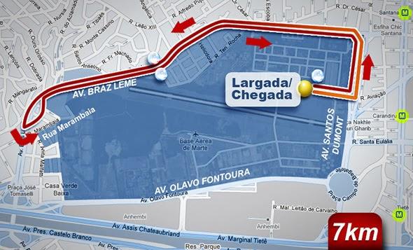 9ª Corrida Oral-B 7k 2014 - Percurso de 7km