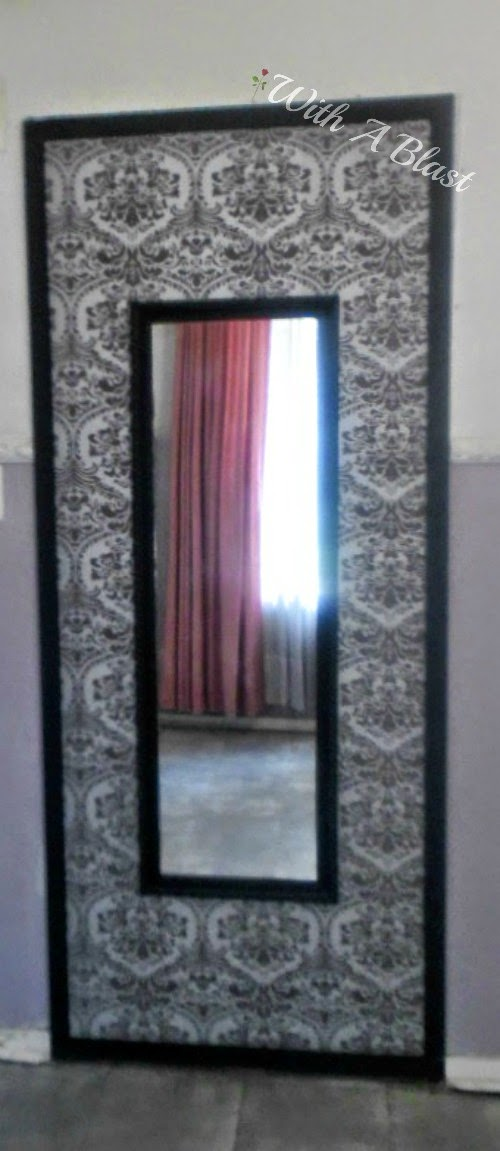 Upcycled Tall Mirror ~ Easy DIY on how to upcycle an old 90's mirror to a more modern piece #Upcycling #DIY #Crats #MirrorReDo