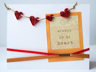 квиллинг простые сердца