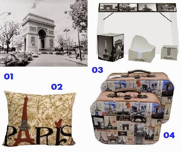 itens de decoração inspirados na França/Paris