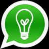 Logo de whatsapp con bombilla en el interior