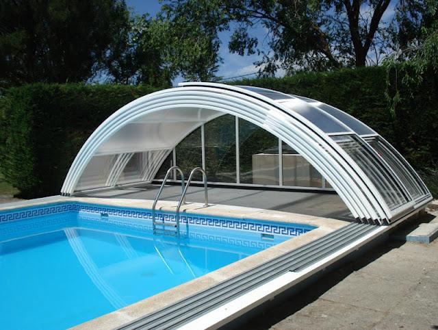 Cubiertas para piscinas baratas cerramientos moviles en for Piscinas para jardin baratas