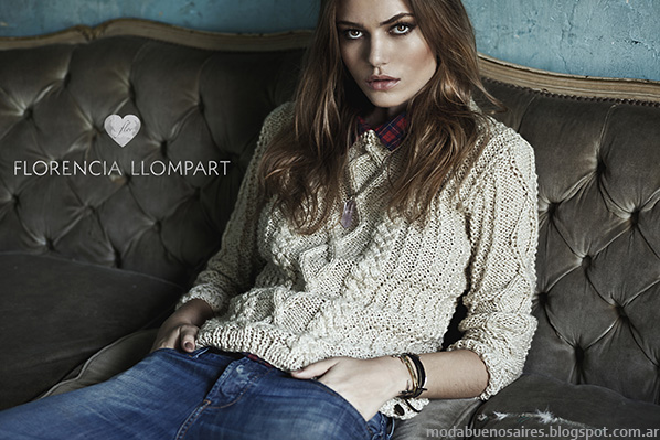 Moda otoño invierno 2014 Sweaters Tejidos Florencia Llompart.