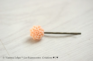 barrette fleur romantique