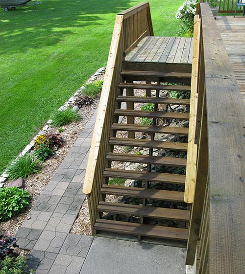 Deck steps all sealed