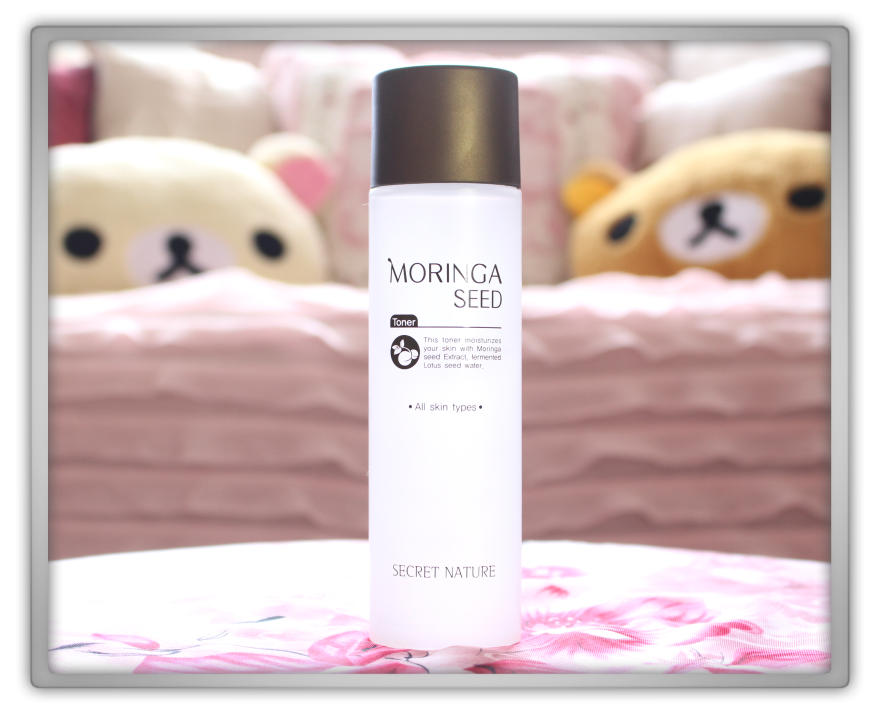 Secret Nature Moringa Seed toner products Haul Review preview honest pink korean cosmetics skincare asian rilakkuma flowers memebox jolse