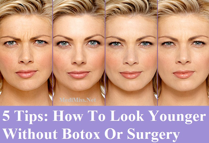 ways to look younger without botox To look 10 years younger in 10 minutes, we need to emulate that gorgeous, flushed look choose a shade of blush that is as close to your natural, flushed skin as possible and apply it to the apples of your cheeks.