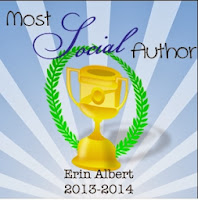 Erin Albert Most Social Author Bloggy Awards