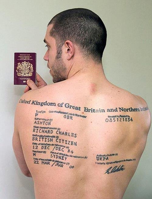 Татуировки на спине Мир тату