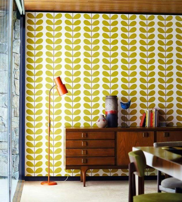 Papier Peint Jaune Citron - Uni jaune citron Douce nuit Papier peint direct
