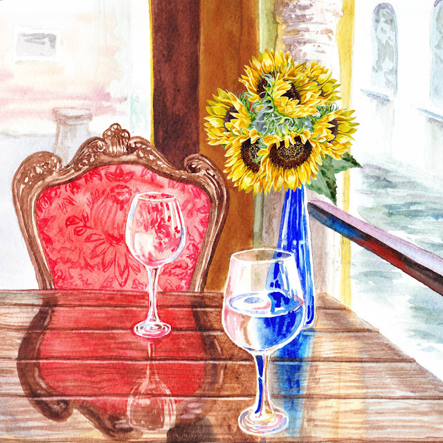 watercolor by Irina Sztukowski