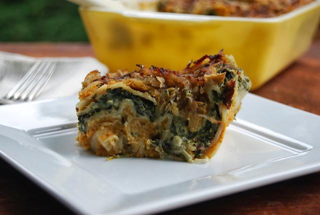 Pumpkin Spinach Lasagna