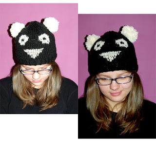 Czapka panda.:)