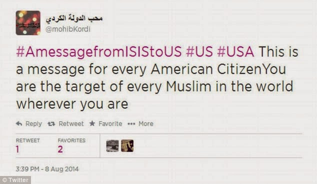 Us citizens will be a target for isis another reads because of