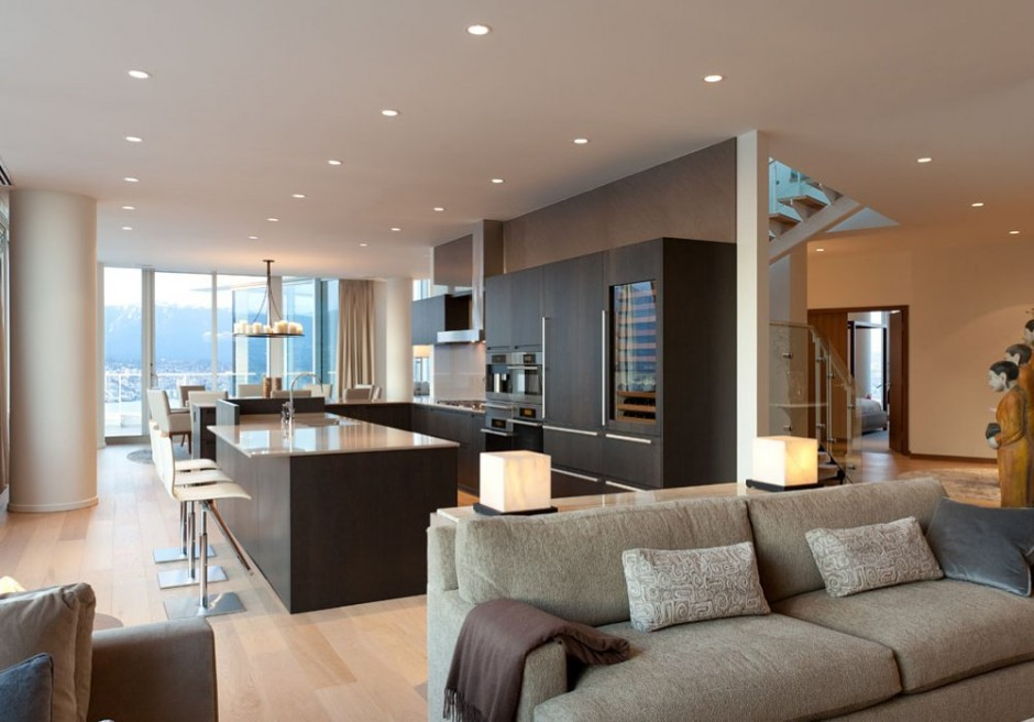 Luxurious Penthouse Dramatic Interior Arquitectura Dise O Interior De Penthouse Por Robert Bailey