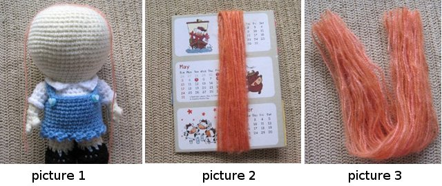 Tutorial to make Hair for an Amigurumi Doll - Sayjai ...