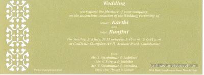 Karthi wedding card