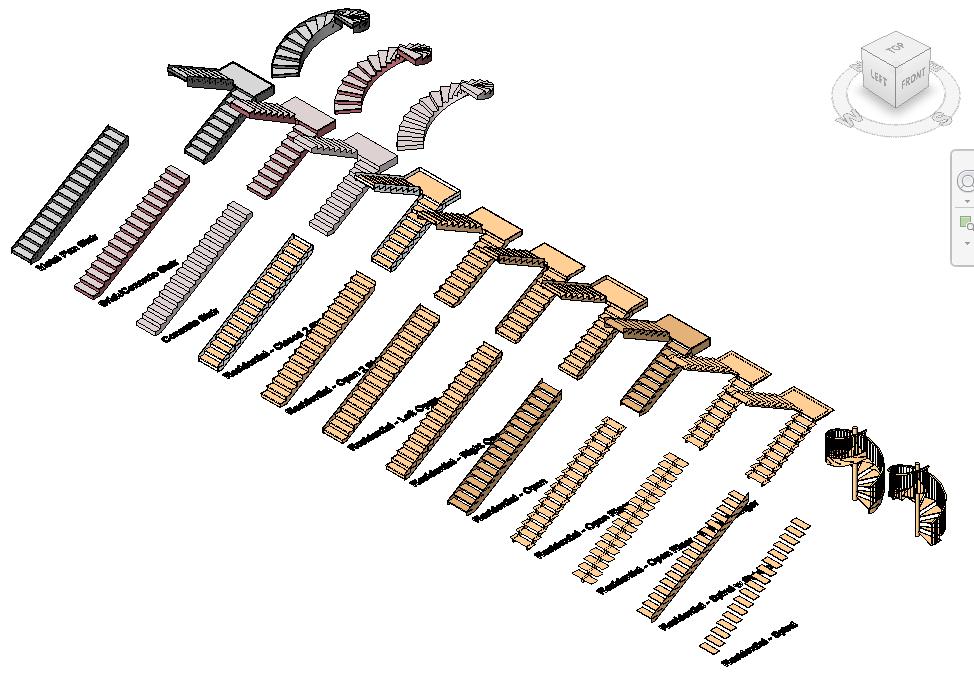 Escaleras Pack de 12 Materiales (RFA) | ArquiHoy-Revit