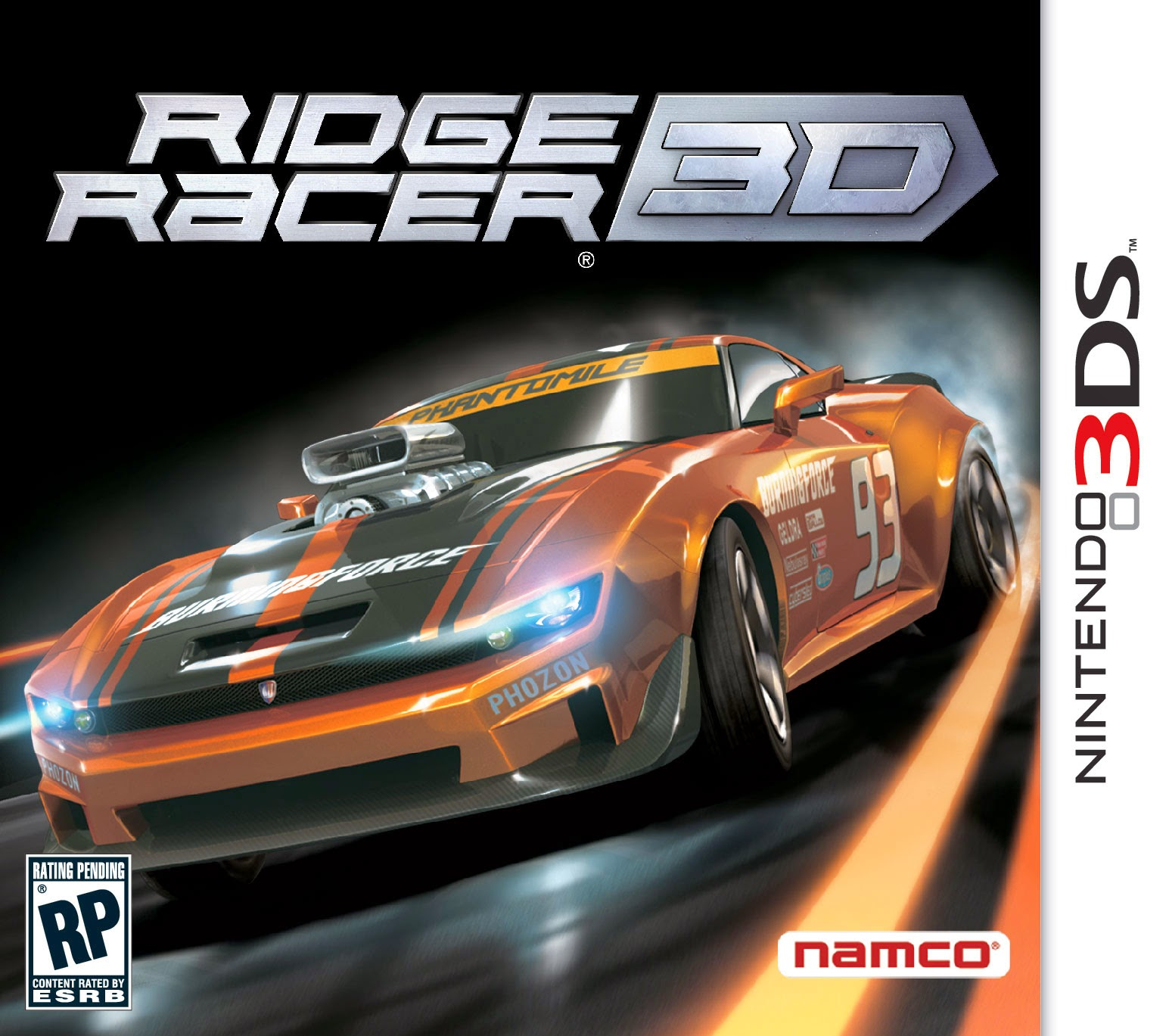 3DS Ridge Racer 3D Cover