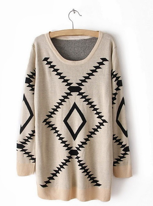 Adorable vintage scoop neck sweater fashion style