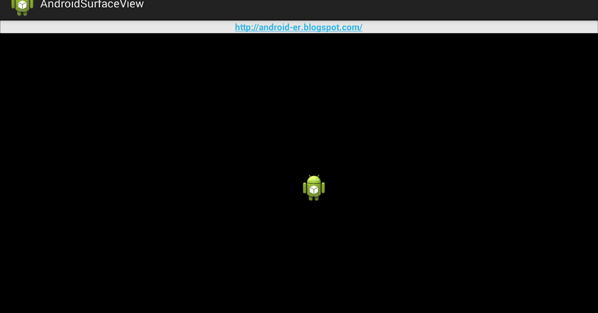 Simple surfaceview example android
