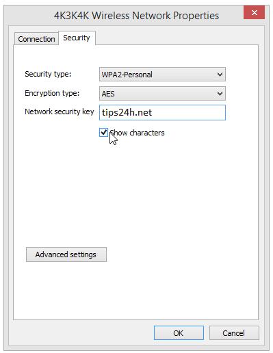 Cách xem mật khẩu Wifi khi đã kết nối trên Windows 8.1