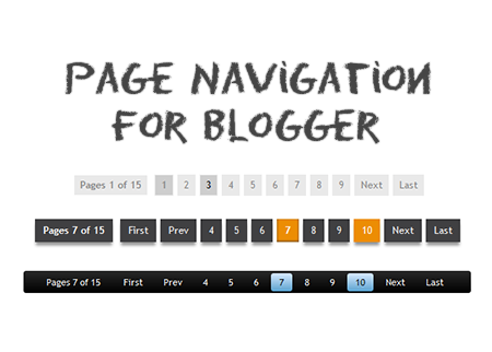 How to Add Numbered Page Navigation Widget for Blogger 1