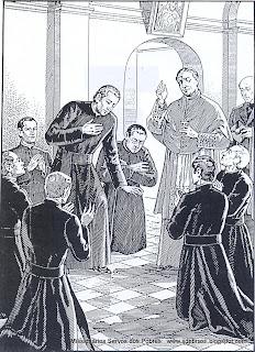 Gravura dos primeiro Missionários Servos dos Pobres