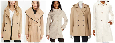 Forever 21 Double Breasted Trench Coat $29.90  Forever 21 Belted Wool Blend Coat $69.90  Jessica Simpson Double Breasted Coat with Hood $89.00 (regular $200.00)  Braetan Hooded Double Breasted Wool Blend Peacoat $140.00 (regular $200.00)  Liz Claiborne Kimono Wool Blend Coat $153.99 (regular $220.00)