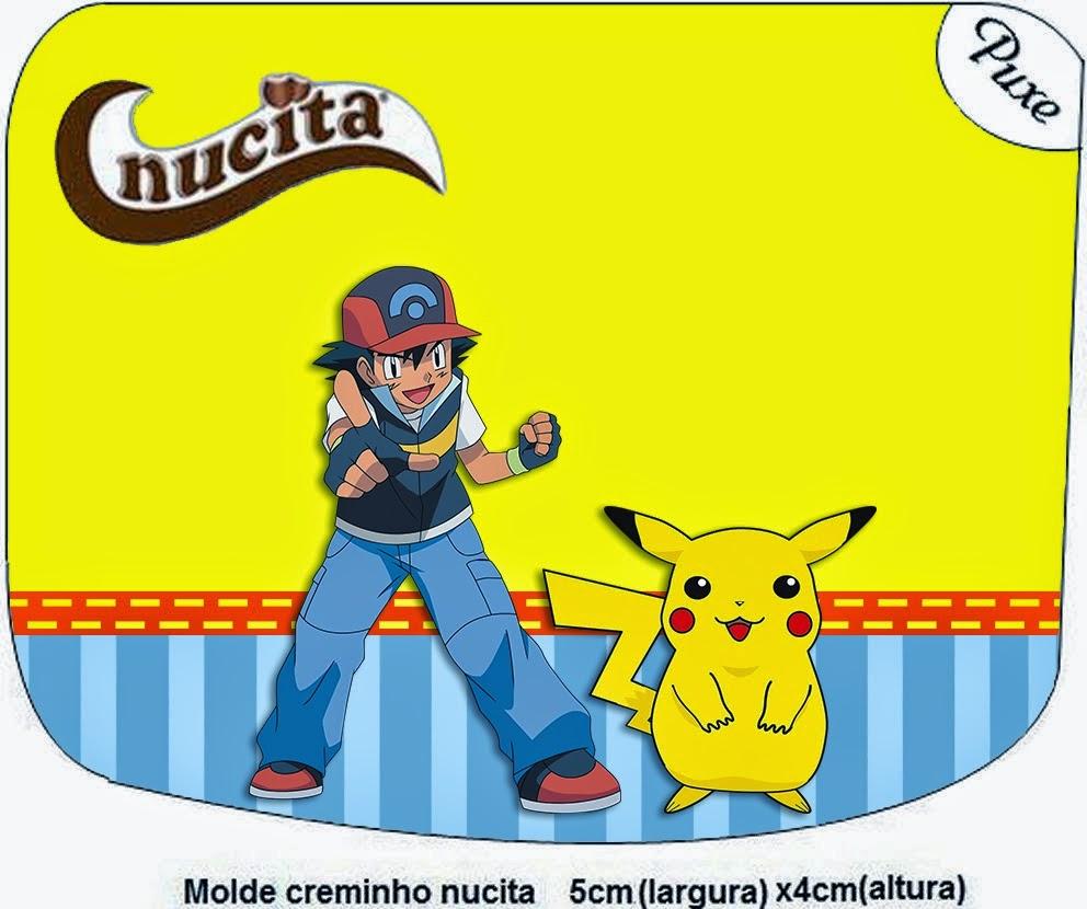 Etiquetas Nucita de Pokemon para imprimir gratis.