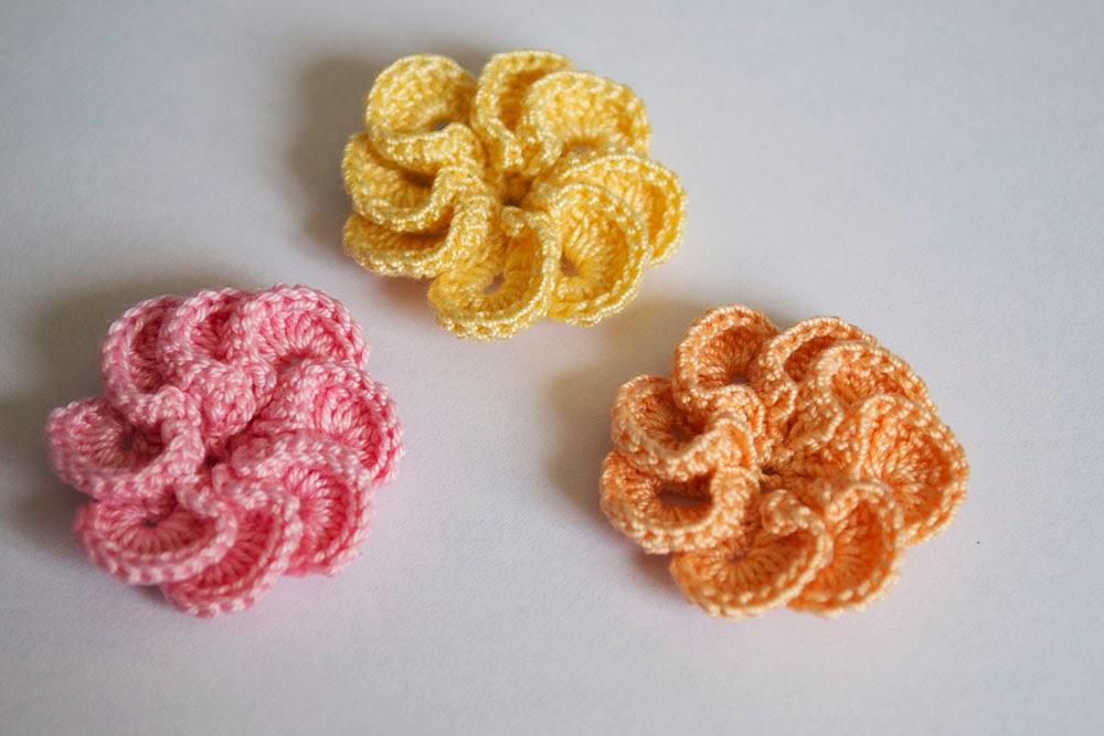 Flores de ganchillo