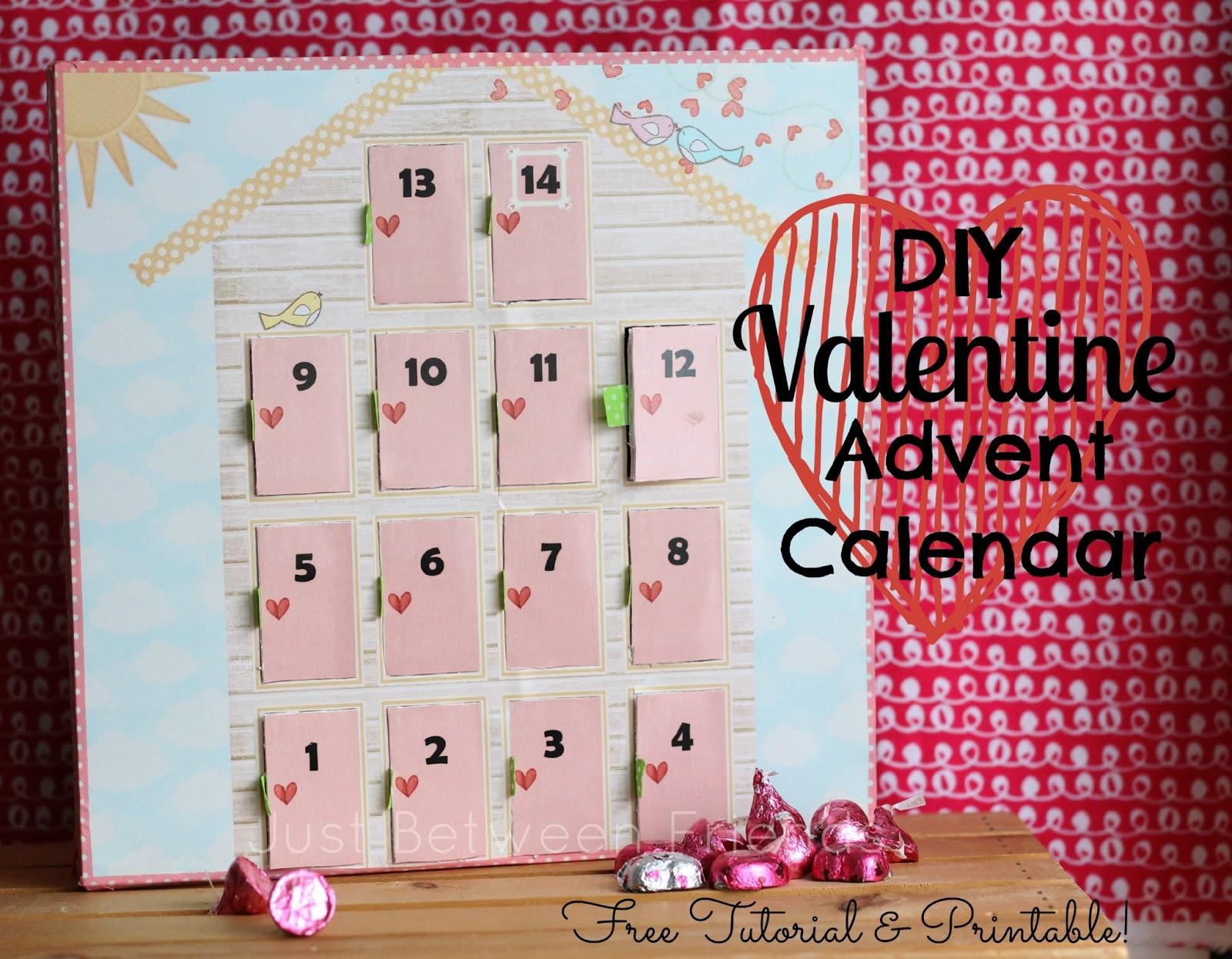 Diy Advent Calendar : Diy valentines advent calendar just between friends