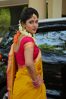 Chandini Chowdary in YHellow Saree at Kundanapu Bomma movie press meet