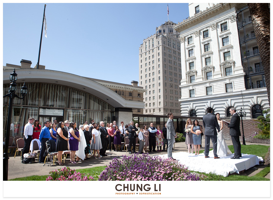 san francisco fairmont hotel roof top garden wedding