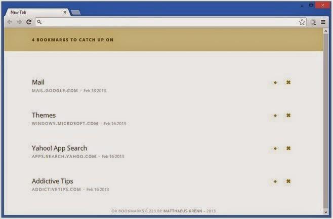 OX, extensión de Chrome para administrar marcadores