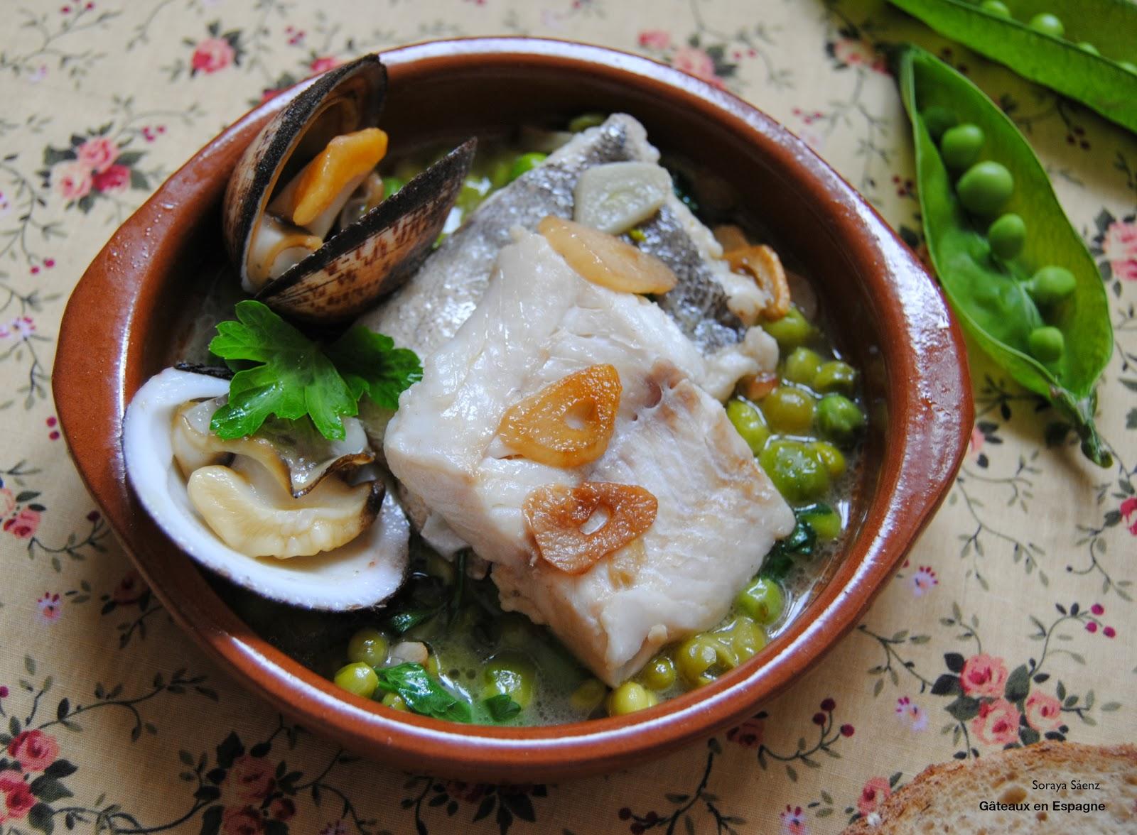 G teaux en espagne recette espagnole colin en sauce verte - Recette typique espagnole ...