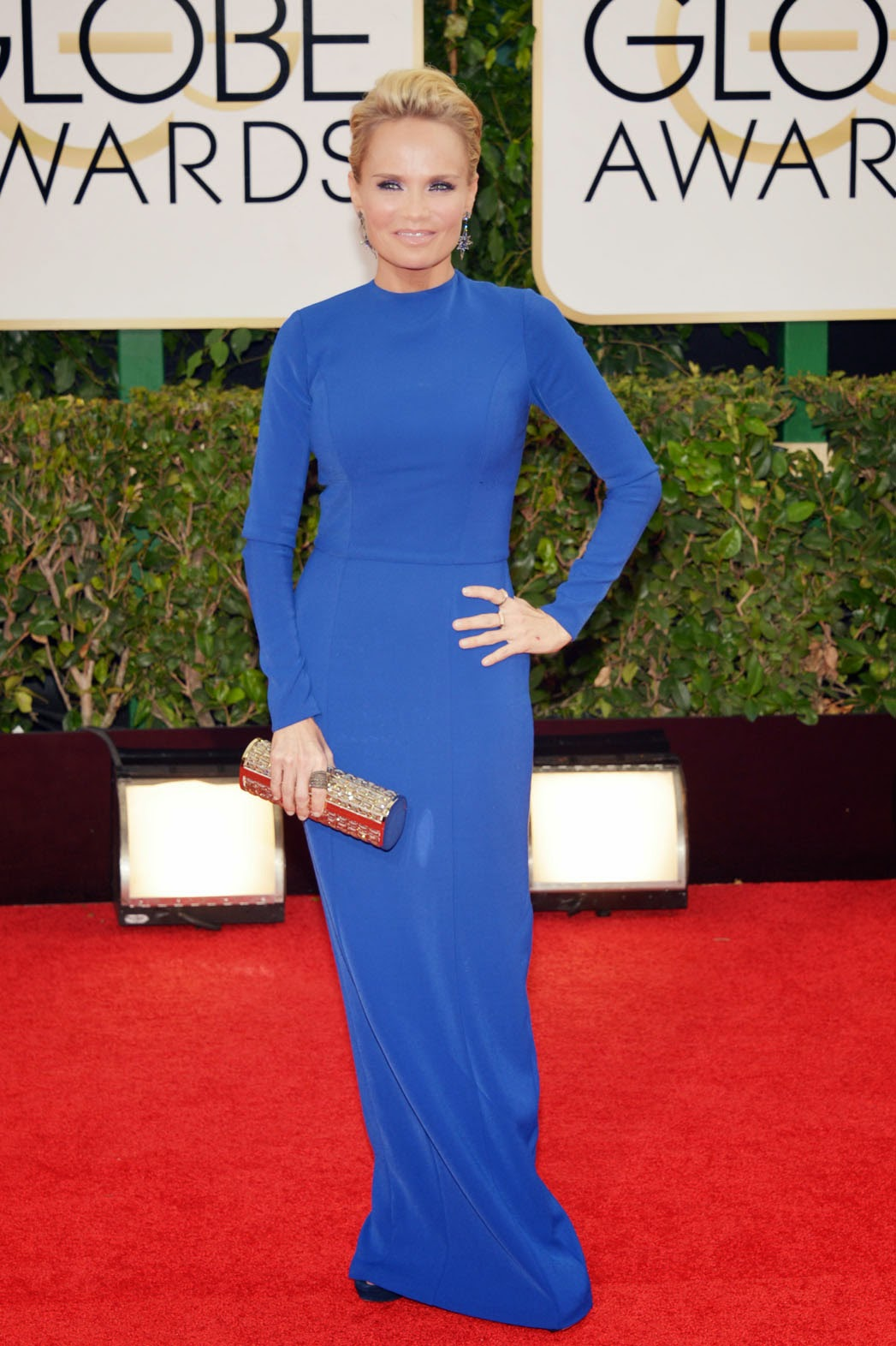 Kristin Chenoweth in Aiisha Ramadan. Here's a long sleeve maxi dress