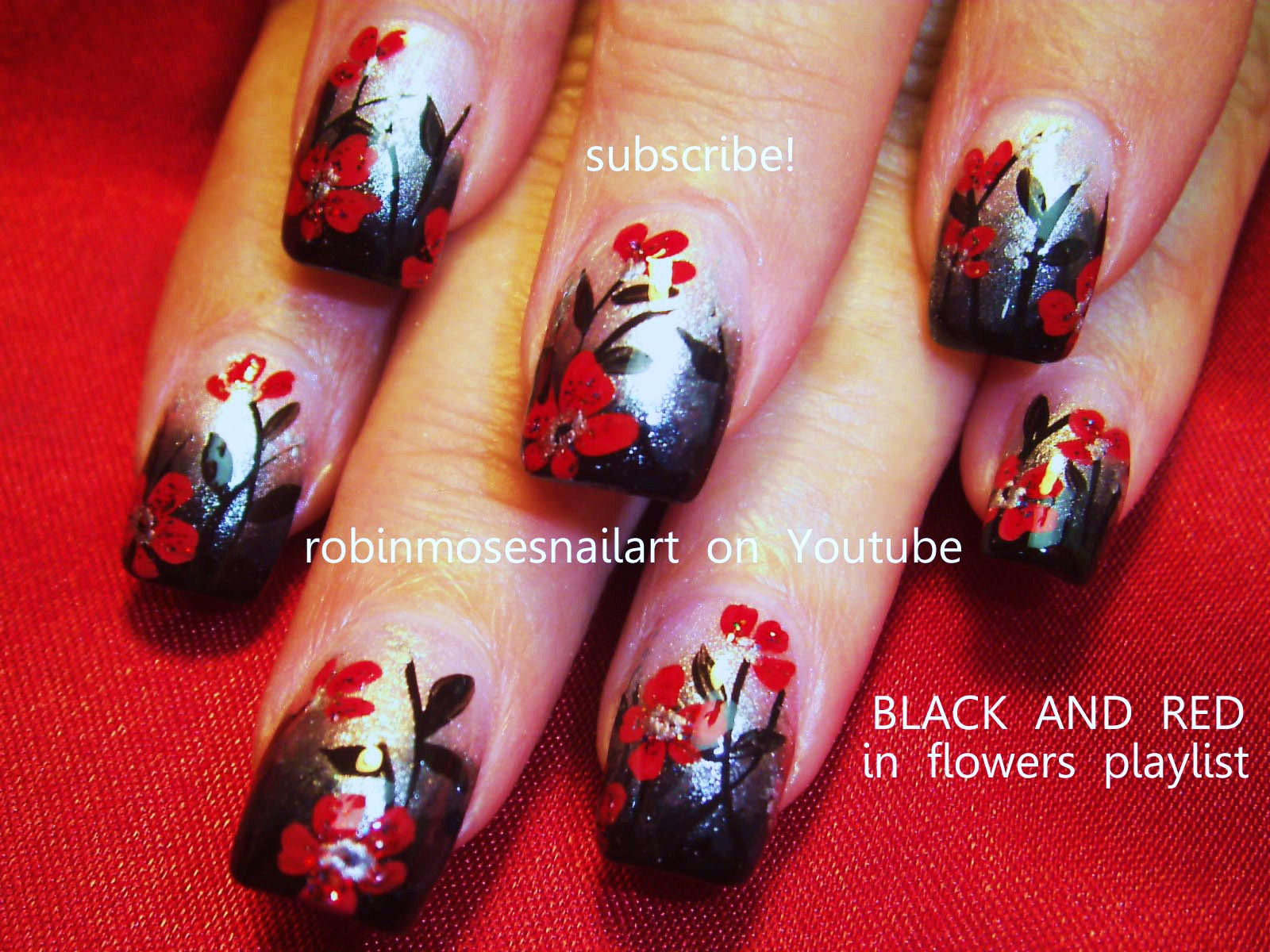 Nail art quot quot black and red nail art quot quot scary nail art quot quot sexy nail art