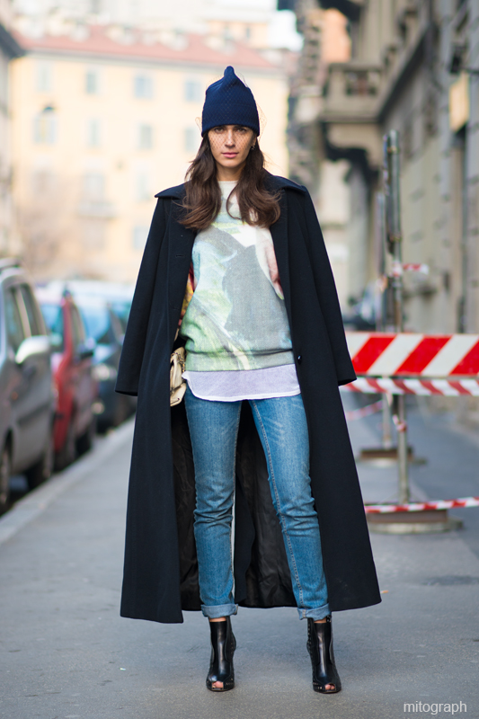 mitograph Chiara Titore After Gucci Milan Fashion Week 2013 2014 Fall Winter MFW Street Style Shimpei MIto