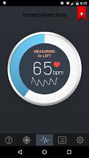 Mengukur Kecepatan detak jantung melalui Kamera android